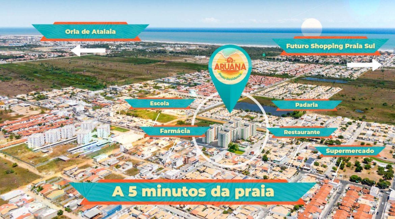 Aruana Praia Residence Localização